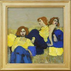Milt Kobayashi, Blue and Gold oil