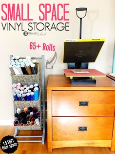 Vinyl Storage Solution for Small Spaces (And First Look at My New Craft Room) - Silhouette School