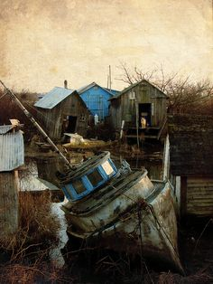 "A fishing settlement ""Finn Slough"""