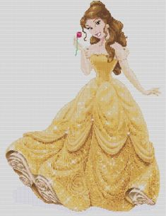 Counted Cross Stitch Pattern Disney Princesses Beauty от dueamici