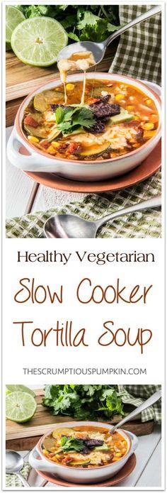 Healthy-Vegetarian-Slow-Cooker-Tortilla-Soup
