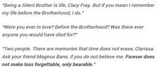 I miss you, james carstairs.