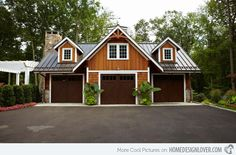 Another attractive traditional garage that is not only simple, but beautiful as well.