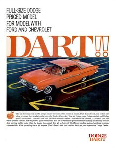 THIS WAS MY FIRST CAR I HAD.....BRIGHT RED AND HER NAME WAS ROSEBUD!!!!!! 1961 Dodge Dart Phoenix 4-Door Hardtop