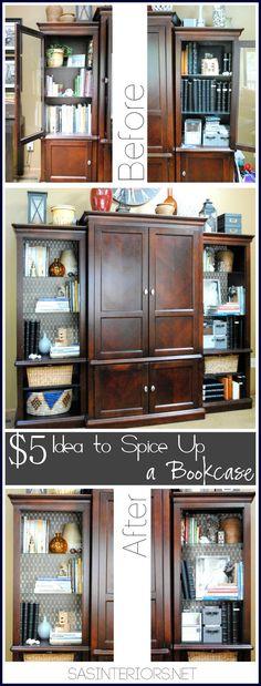 $5 Idea to Spice Up a Bookcase by @Jenna_Burger