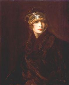 Sir John Lavery (Irish, 1856 - 1941) 'The Gold Turban'