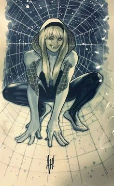 Art Vault : Spider-Gwen by Adam Hughes Comic Book Artists, Comic Book Characters, Comic Artist, Comic Character, Comic Books Art, Adam Hughes, Marvel Comics Art, Marvel Dc, Marvel Heroes