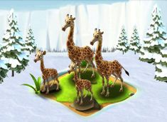 Ice Age Village...... Familia Jirafa