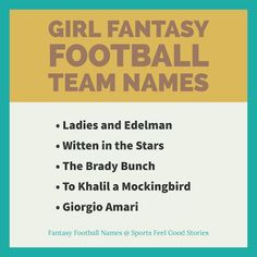 85 Best Fantasy Football Team Names images in 2019