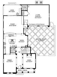 Mediterranean Floor Plan - Main Floor Plan Plan #999-148