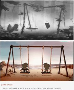 I love the swingset symbolism. <--- Yes, it's the best!