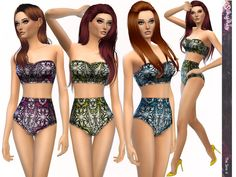 The Sims Resource: Butterfly Effect Print Design Bikinis by Simsimay • Sims 4 Downloads