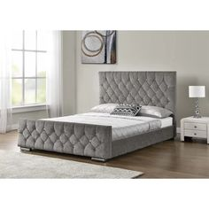 Groupon Goods Upholstered Arya Bedframe: Double/Chenille Mink/with Bonnell Mattress Cushion Headboard, Upholstered Bed Frame, Upholstered Ottoman, Headboard And Footboard, Ottoman Bed, Luxury Rooms, Bed Reviews, Chenille, Bed Sizes