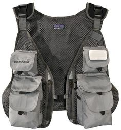 A versatile and lightweight vertical pocket mesh vest appropriate for fresh and saltwater fishing; detaches at top and bottom so that it can be worn on pack fronts - #afflink