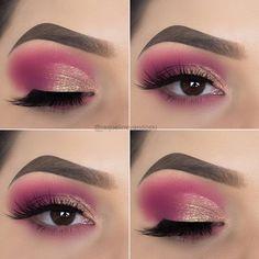 makeup tips 10 Eye Makeup Tips from Jaqueline Vandoski – EYE Makeup 10 Augen Make-up Tipps von Jaqueline Vandoski - EYE Make-up Black Eye Makeup, Makeup Eye Looks, Beautiful Eye Makeup, Simple Eye Makeup, Pink Makeup, Eye Makeup Tips, Makeup Tricks, Makeup Goals, Pretty Makeup
