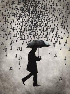 Muziek regen