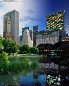 Night & Day - Central Park Pond and Plaza Hotel - http://andrewprokos.com