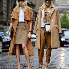 #fashion #cadde #kadın #giyim #style #pantalon #kaban #kahverengi #tonlar #etek #sokak #tarz