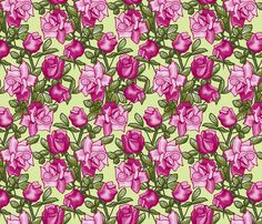 chimbing_roses_unframed_roses_C fabric by khowardquilts on Spoonflower - custom fabric  This has a vertical zigzag pattern.