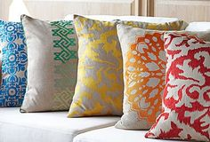 Bright Pillows & Throws   New Boat   Pinterest