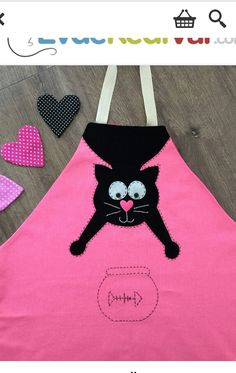Sewing Patterns For Kids, Easy Sewing Projects, Sewing For Kids, Sewing Crafts, Sewing Aprons, Sewing Clothes, Childrens Aprons, Cute Aprons, Retro Apron