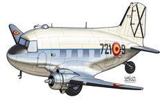 Douglas C-47 (T-3) Ejército del Aire, now preserved at the Museo del Aire, Cuatro Vientos, Madrid.