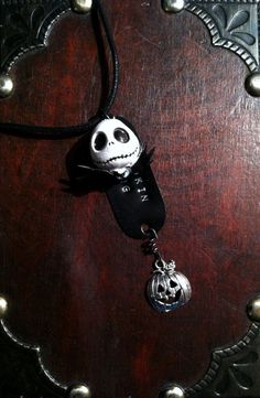 "Nightmare Before Christmas Jack Skellington ""Pumpkin King"" Hand Stamped Necklace by CharmedQuotations, $15.00"