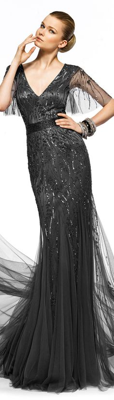 Pronovias ● 2013  Hmm.. I think I'll wear this to the Oscars with George. ..