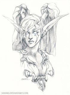 dark elf drawing - Google Search