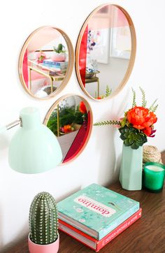 DIY It - Colorblocked Abstract Mirrors - A Kailo Chic Life