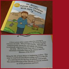 Cute easy reader book for feast of St.