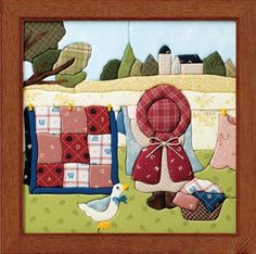 The cutest pictures of Sunbonnet Sue & Overall Sam Quilt Block Patterns, Applique Patterns, Applique Quilts, Sewing Appliques, Applique Designs, Embroidery Applique, Small Quilts, Mini Quilts, Baby Quilts