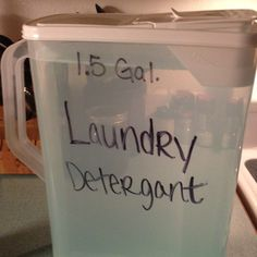 Pinterest Challenge Day 9 - Completed! No grate homemade laundry detergent.... Boo Yah! (And apparently I didn't know to to spell detergent when I wrote it on the container...)