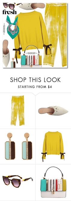 """fresh velvet"" by paculi ❤ liked on Polyvore featuring MANGO, French Sole FS/NY, Burberry and velvet"