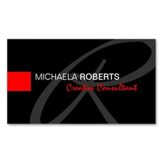 217 best design consultant business cards images on pinterest in black and red creative consultant elegant monogram business card colourmoves