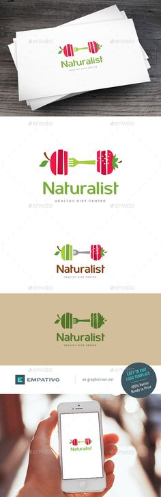 Natural Diet Logo Template PSD. Download here: http://graphicriver.net/item/natural-diet-logo-template/15679046?ref=ksioks