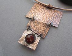 RESERVED FoR SOPHIE/ Copper Necklace/ Hammered por mese9 en Etsy