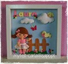 Um quadro para decorar o quarto da Laura!