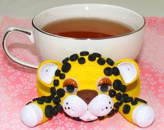Coasters for drinks Tiger Stand for the cup Cup by QuillingLife