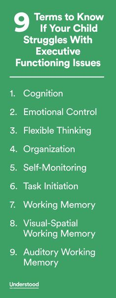 Here are nine key terms and phrases doctors and other professionals use to describe executive function skills and the way your child thinks and learns.