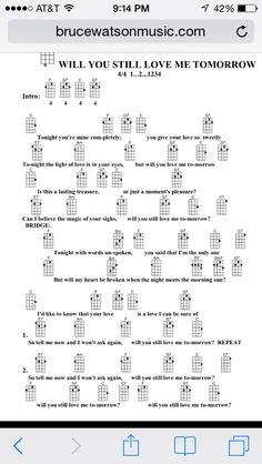 Will you still love me tomorrow Uke chords