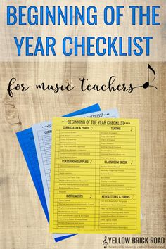Download a free editable checklist for music teachers. You can use it to check off all the things you need to do as you set up your classroom.