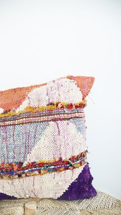 Giant Moroccan Kilim Floor Cushion  BOUCHEROUITE by lacasadecoto