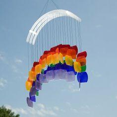 Goose Rocks Designs  Paris Glass Rainbow Wind Chime