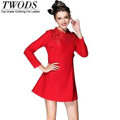 Elegant Lace Mock Neck Little Black Dress S- 5xl Fall Winter Long Sleeve Red Flare Party Like and Share if you agree! http://www.artifashion.net/product/elegant-lace-mock-neck-little-black-dress-s-5xl-fall-winter-long-sleeve-red-flare-party/ #shop #beauty #Woman's fashion #Products #startup #followback #onlinebusiness #entrepreneur