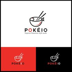 a logo for a new chain of Poke Bowl restaurants. Design by AlekxaDesign a logo for a new chain of Poke Bowl restaurants. Design by Alekxa Logo Restaurant, Restaurant Design, Creative Logo, Korean Logo, Logo Branding, Branding Design, Bowl Logo, Poke Bowl, Logo Food