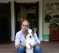 Alton Brown and his dog Sparky