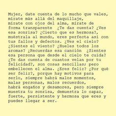 mujer date cuenta de lo que vales Quotes En Espanol, Strong Women, Girl Power, Me Quotes, Lyrics, Feelings, Words, Life, Beautiful Words