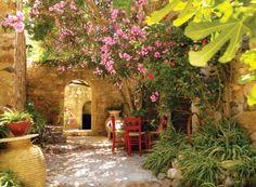 mooie mediterraanse tuin