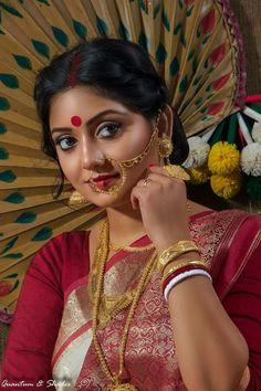 Being Married Sasi pradha t Bridal Makeup Looks, Bridal Beauty, Bridal Looks, Bengali Wedding, Bengali Bride, Wedding Bride, Beautiful Saree, Beautiful Indian Actress, Beautiful Actresses